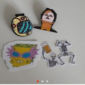 Pins, patches, and stickers